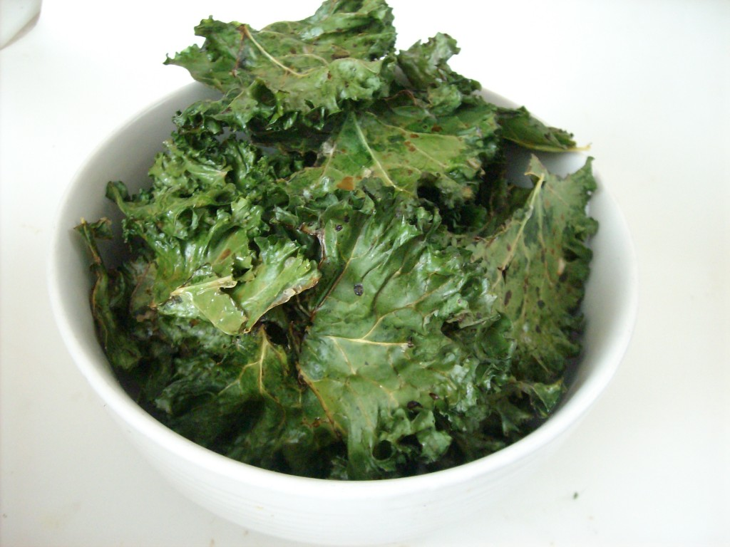 My favorite kale chips recipe can be found below in the post.